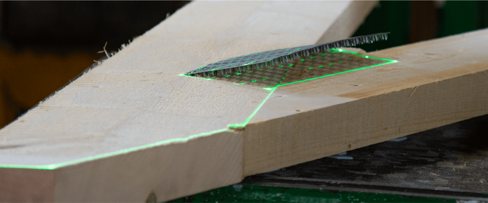 , Laser projection for Truss Manufacturing