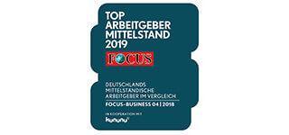 Top Arbeitgeber Mittelstand 2019 Focus Siegel