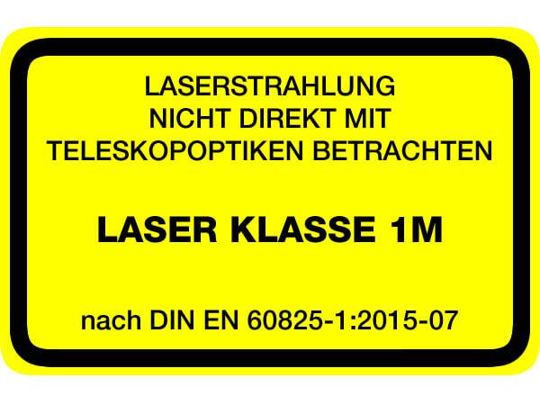 Laserwarnaufkleber Klasse 1M
