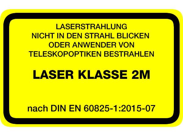 Laserwarnaufkleber Klasse 2M