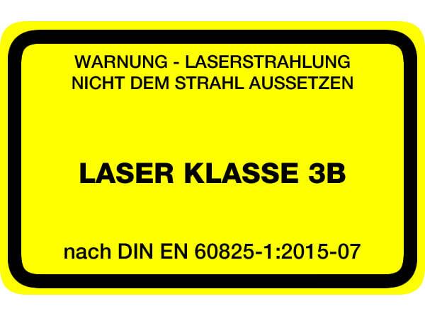Laserwarnaufkleber Klasse 3B