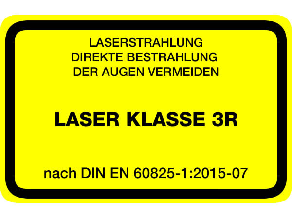Laserwarnaufkleber Klasse 3R