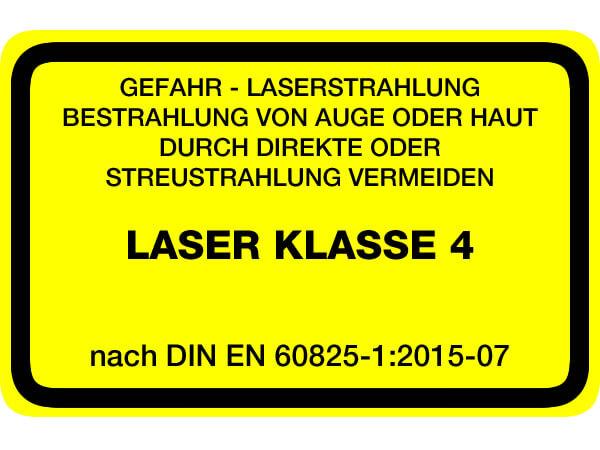 Laserwarnaufkleber Klasse 4