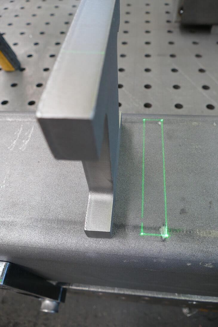 , Laserprojektor vereinfacht Schweißprojekte