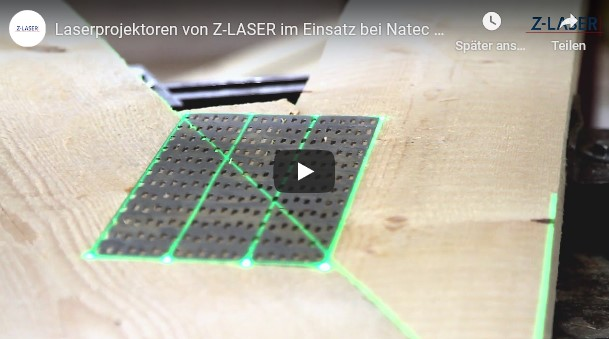 , Laser projectors from Z-LASER in use at Natec (nail plate trusse)