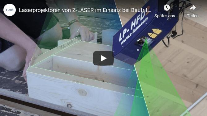 , Z-LASER laser projector LP-HFD2 in use at BAUFRITZ in Erkheim