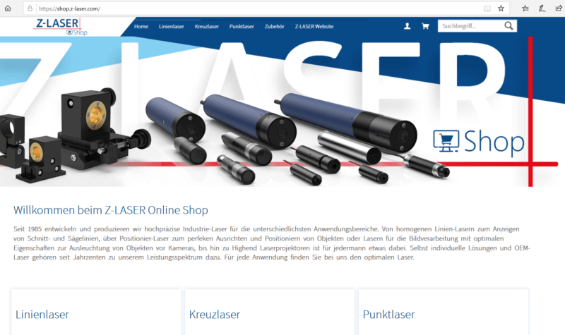 , Z-LASER goes online shopping