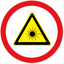 Symbol Achtung Laserstrahlung